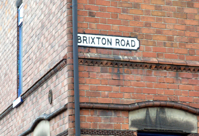 Brixton Road, name plate