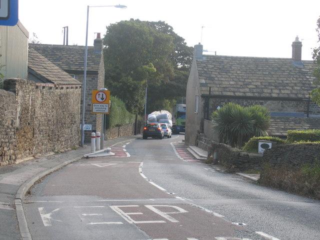 Yet another lorry through Flockton