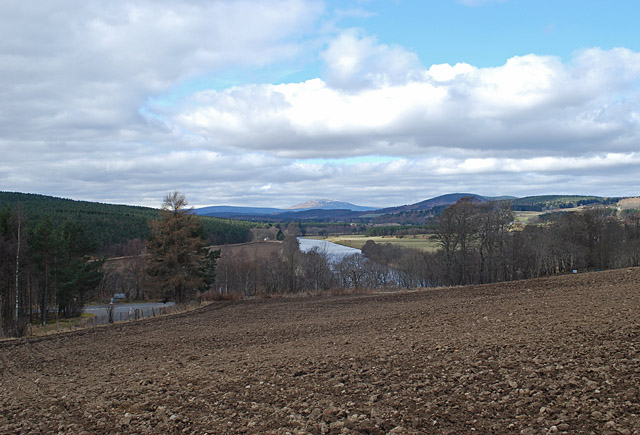 Across a ploughed field towards the River Dee