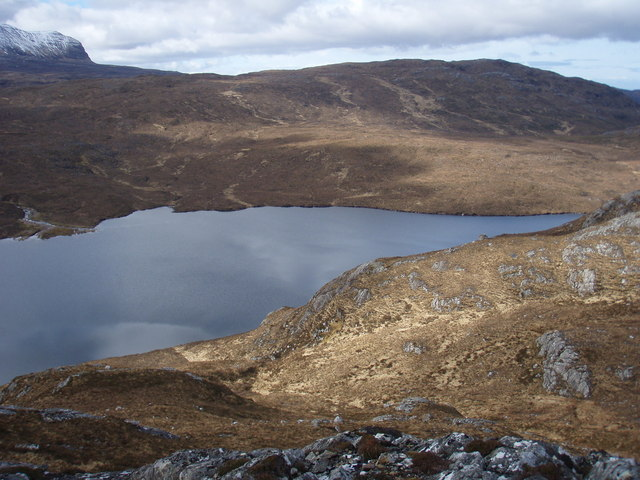 Loch Garbhaig from Meall Garbhaig