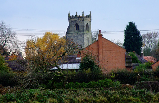 Wilberfoss Church Taken From Birker Lane