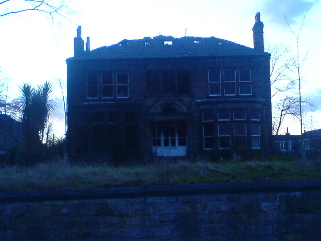 Victorian Mansion burnt down in Staincliffe, Batley