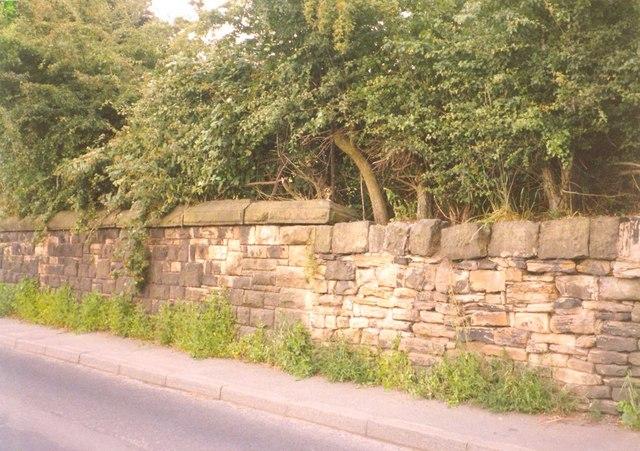 Change in wall type, Steanard Lane, Hopton