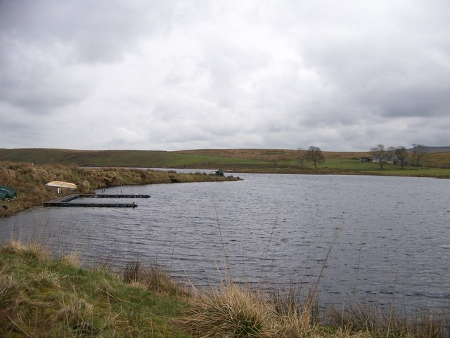 Compensation Reservoir - a popular spot for fishermen