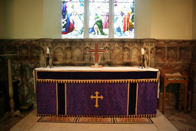All Saints' church altar