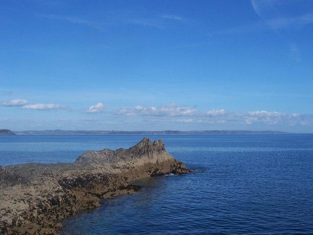 Rocks near Mevagissey harbour