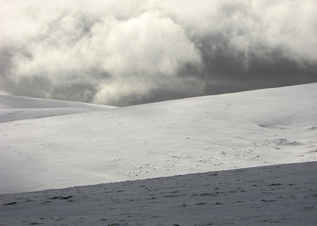 Snow covered slopes in the Moffat Hills