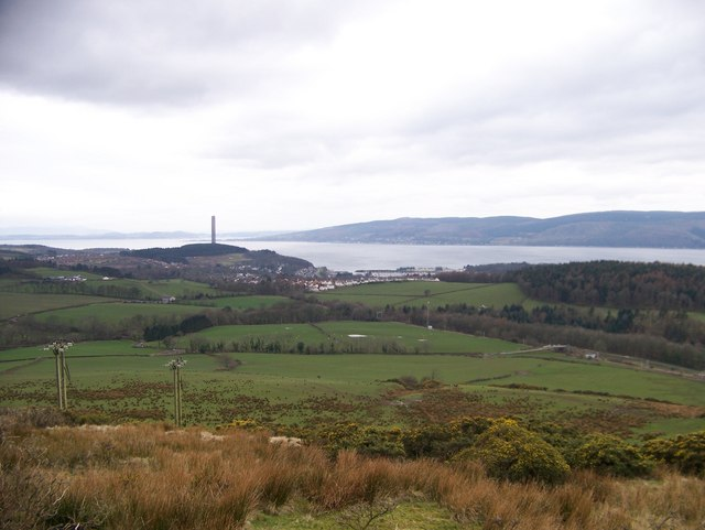 View towards Inverkip from the Greenock Cut