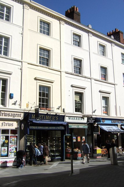 Shops on Queen Street, Exeter