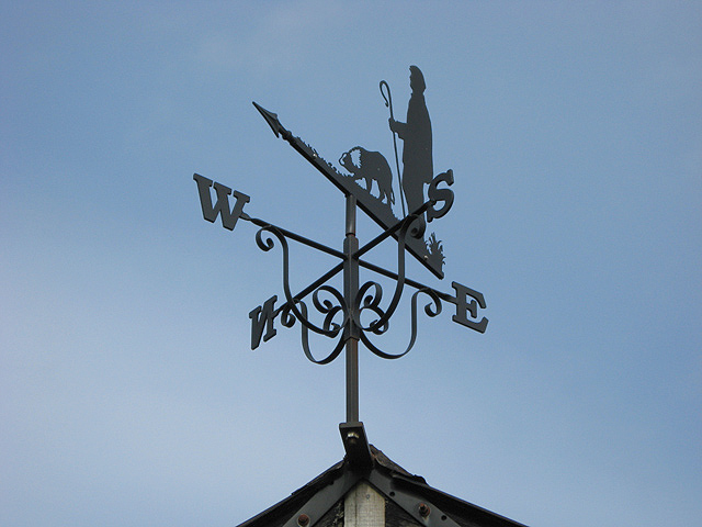 The weather vane on Cappercleuch Village Hall