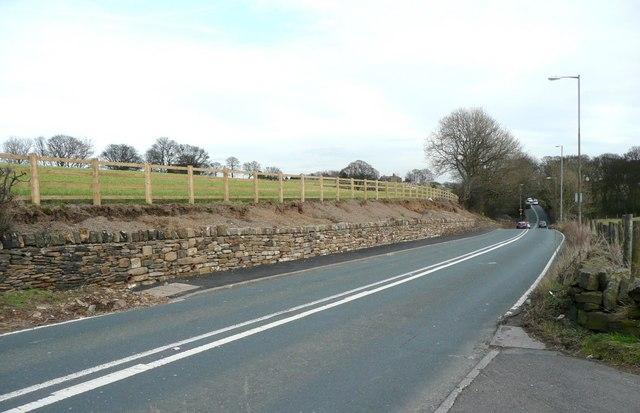 New wall, Flockton Lane (A637), Flockton