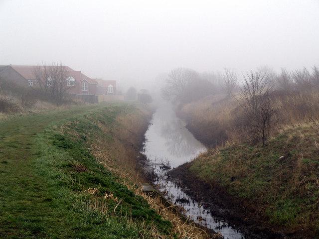 Burstwick Drain in the Mist