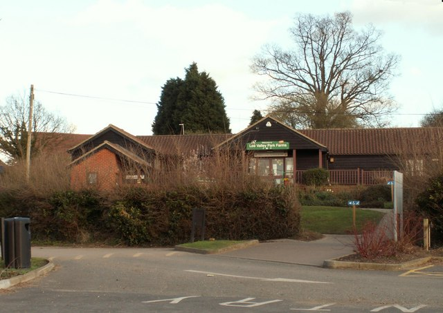 The visitor centre at Lee Valley Park Farms