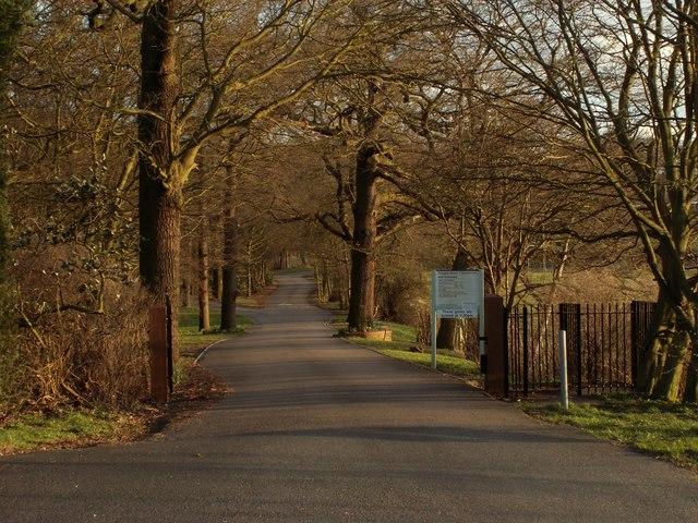 The entrance to Parndon Wood Crematorium & Cemetery