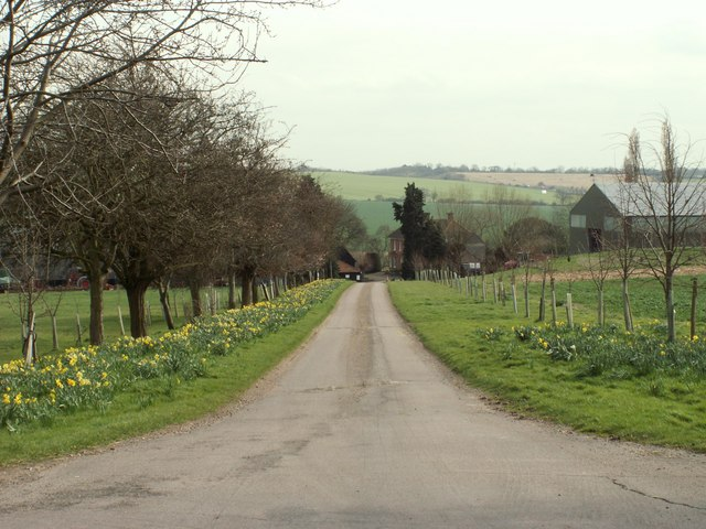 The approach to Mitchells Farm
