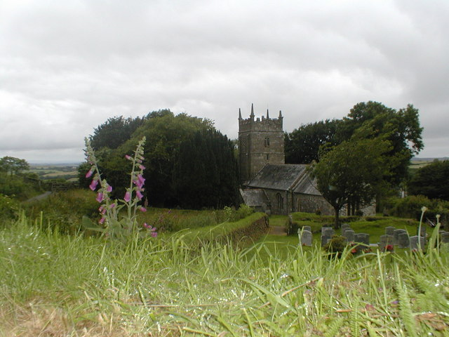 Sourton church from the Cycleway