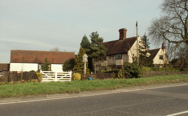 A view of Parsonage Farm from the B172