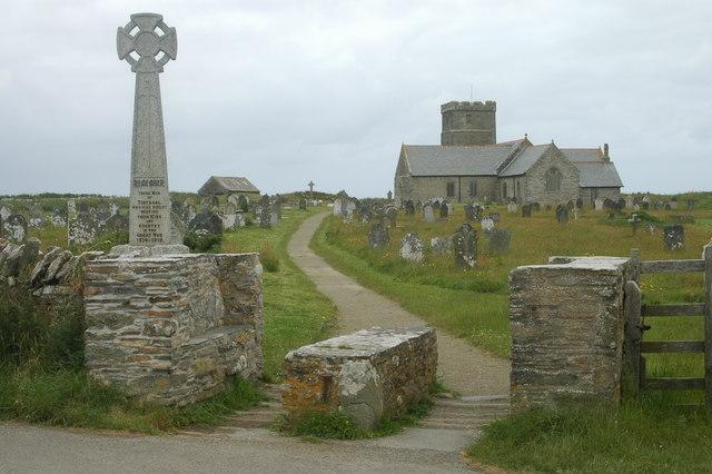 The church & churchyard, Tintagel