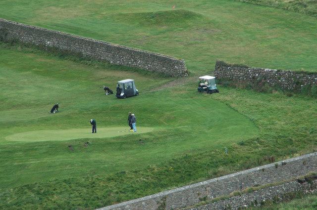 A Green at the Cape Cornwall Golf Club