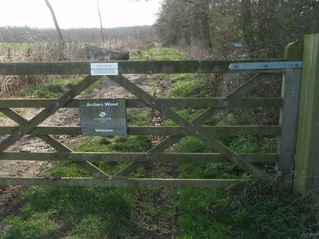 Gateway to Archers Wood