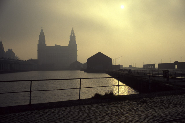 Royal Liver Building from Prince's Dock