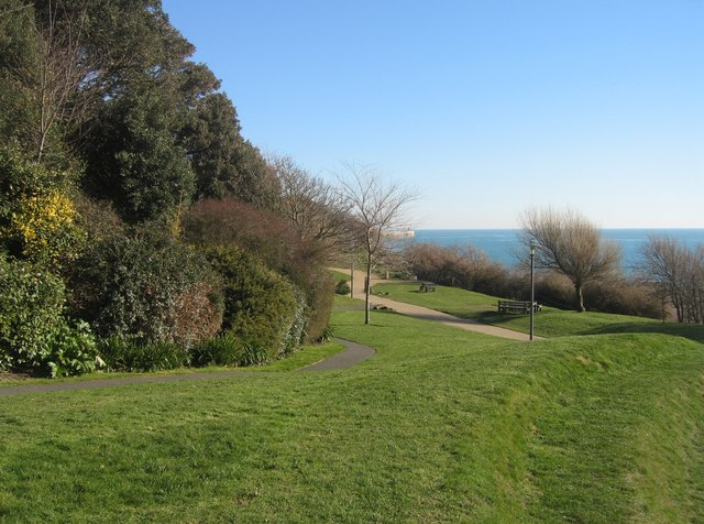 Gardens at the base of the Leas Cliff