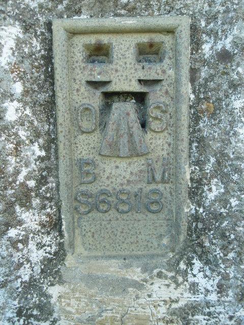 Flush Bracket Bench mark no S6818