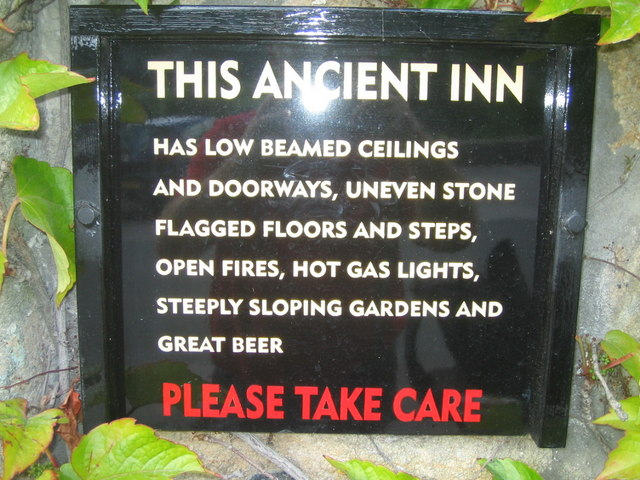 Notice outside the Craven Arms, Appletreewick