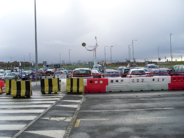 Car park at terminal building of Prestwick Airport