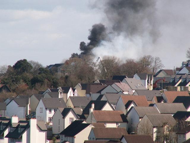 Edgehill College burning