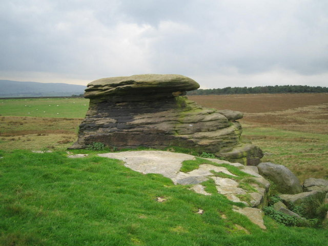 One of the Doubler Stones on Addingham High moor