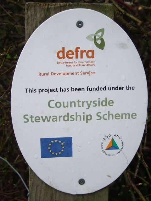 Countryside Stewardship Scheme sign