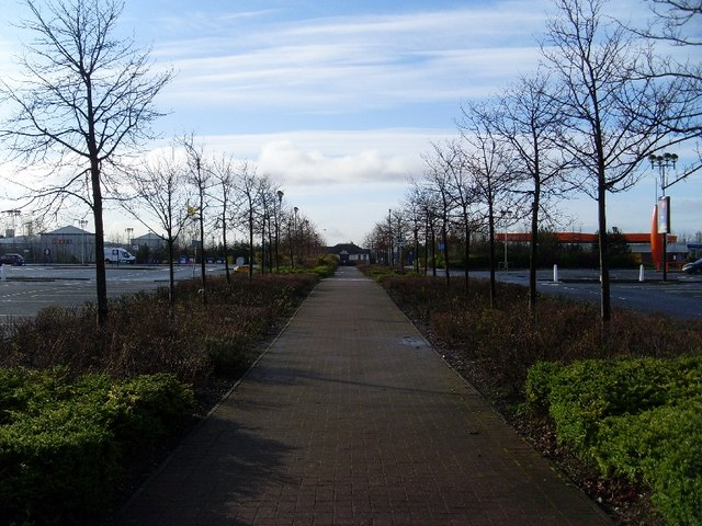 Pathway in Great Western Retail Park