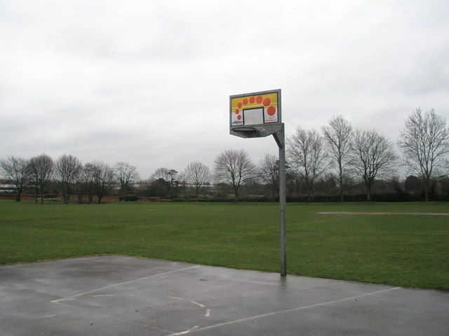 Basketball hoop at Bidbury Mead