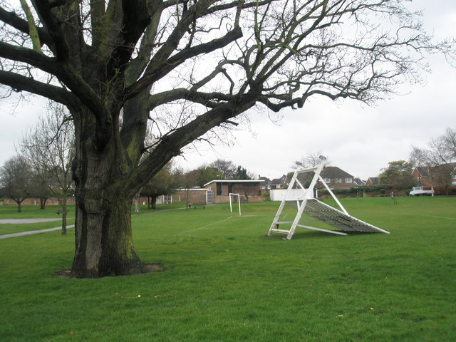 Strong winds at the cricket field