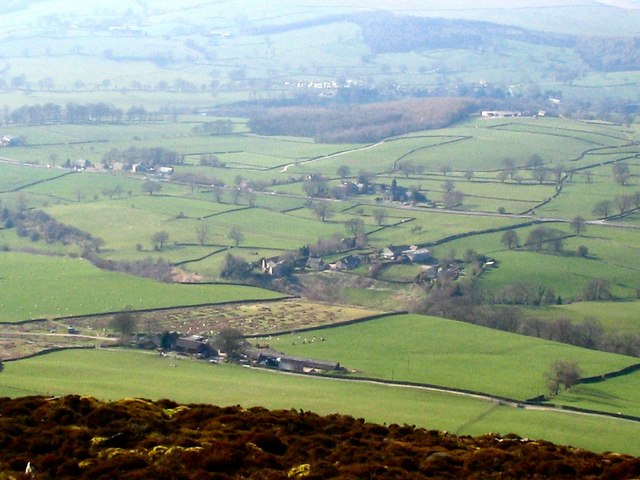 Looking down on to the Bolton estate from Beamsley Beacon