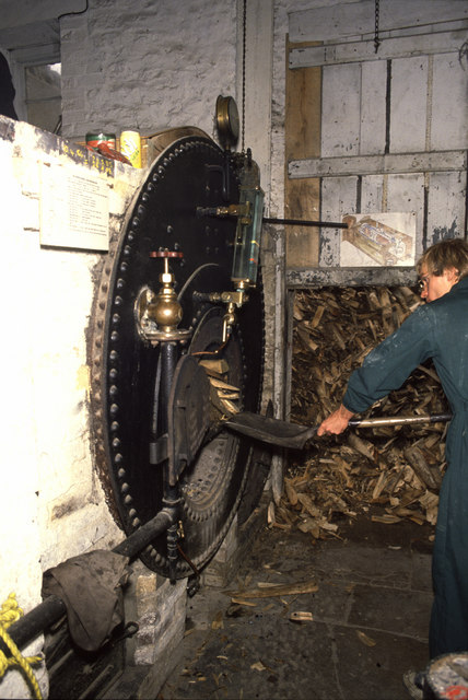 Stoking the boiler, Combe Saw Mill