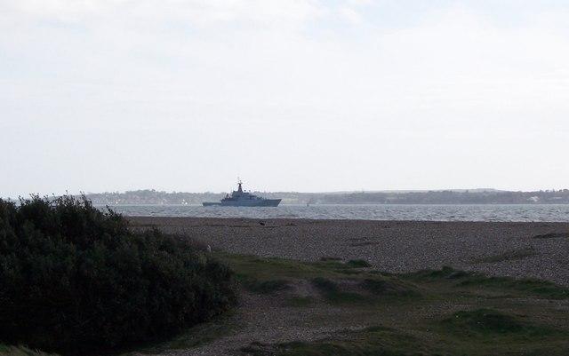 Warship-off Gilkicker Point