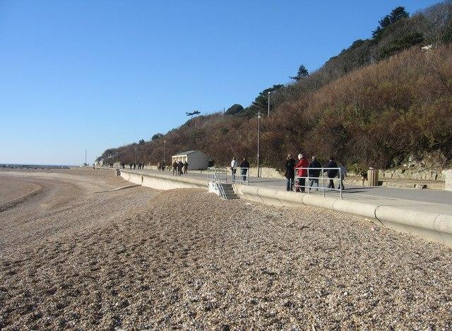 Sea wall & beach