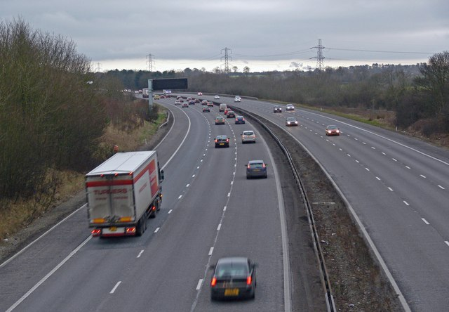 South along the M1 Motorway