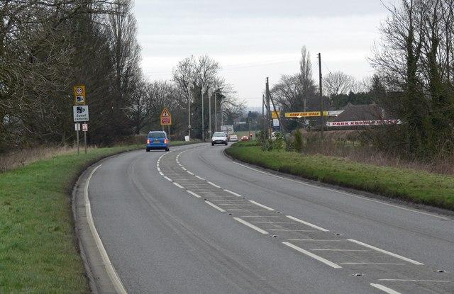 A426 Lutterworth Road near Dunton Bassett