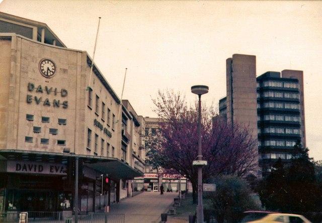 David Evans Department Store, Swansea.  May 1979