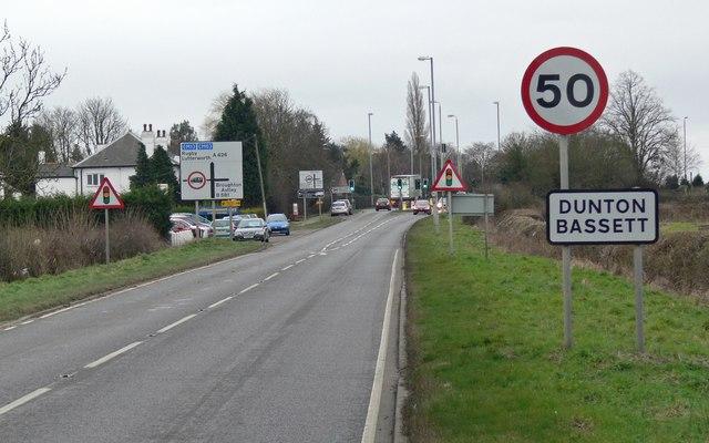 A426 Lutterworth Road at Dunton Bassett