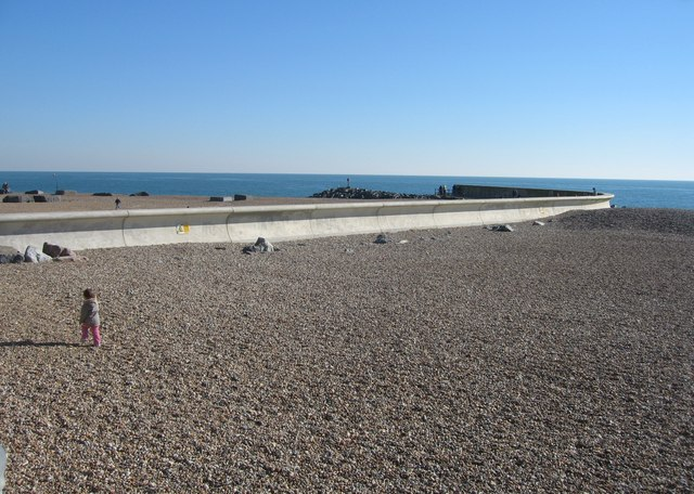 Concrete on the beach