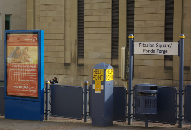 Fitzalan Square/Ponds Forge Tram Stop, Sheffield