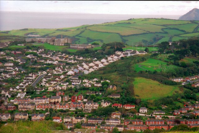 Ilfracombe College high up on the hill