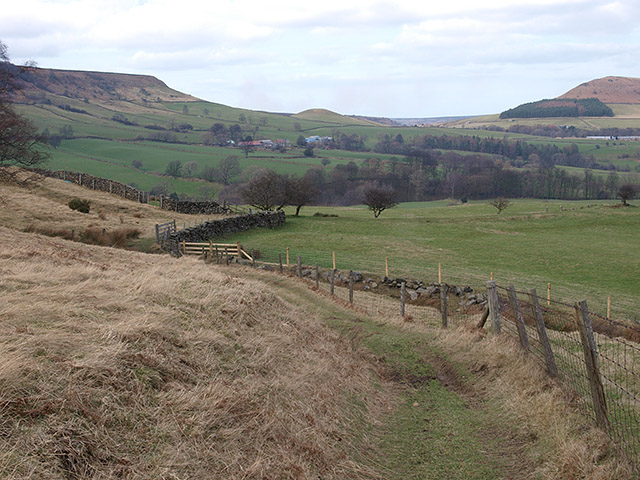 Looking down Fryup Dale