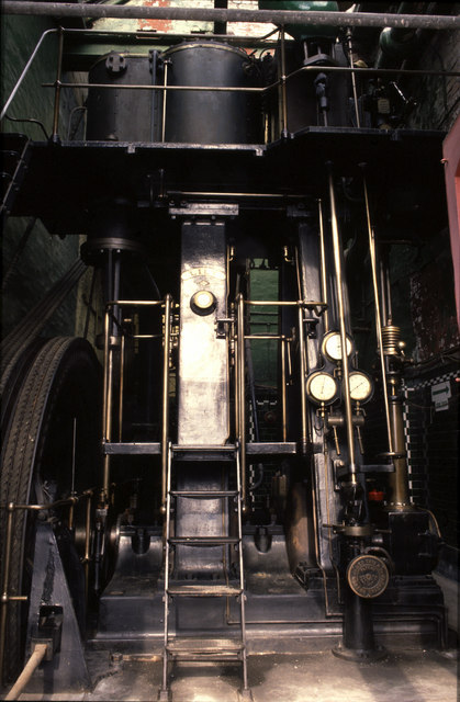 Steam engine, Diamond Ropeworks, Royton