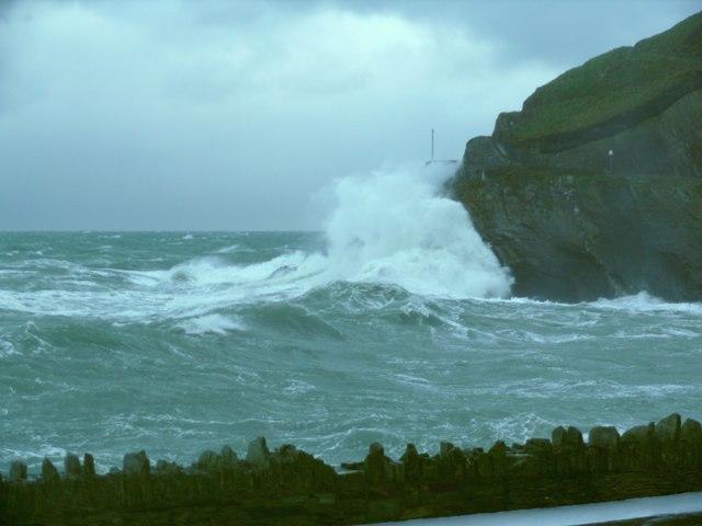 Rough Sea at Capstone Hill