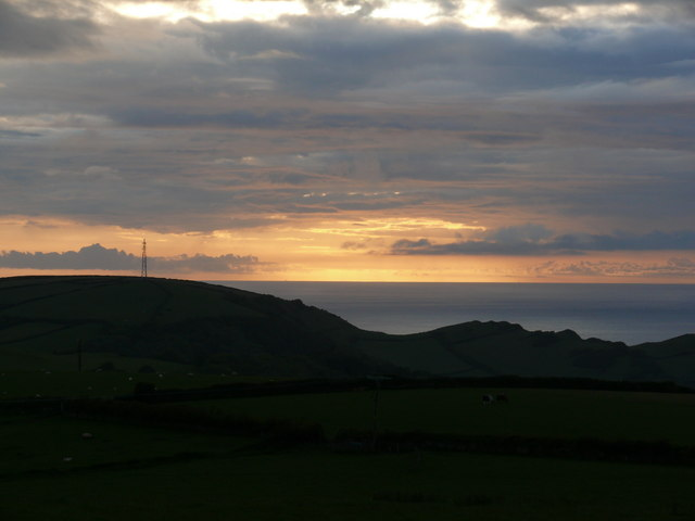 Sunset over The Torrs